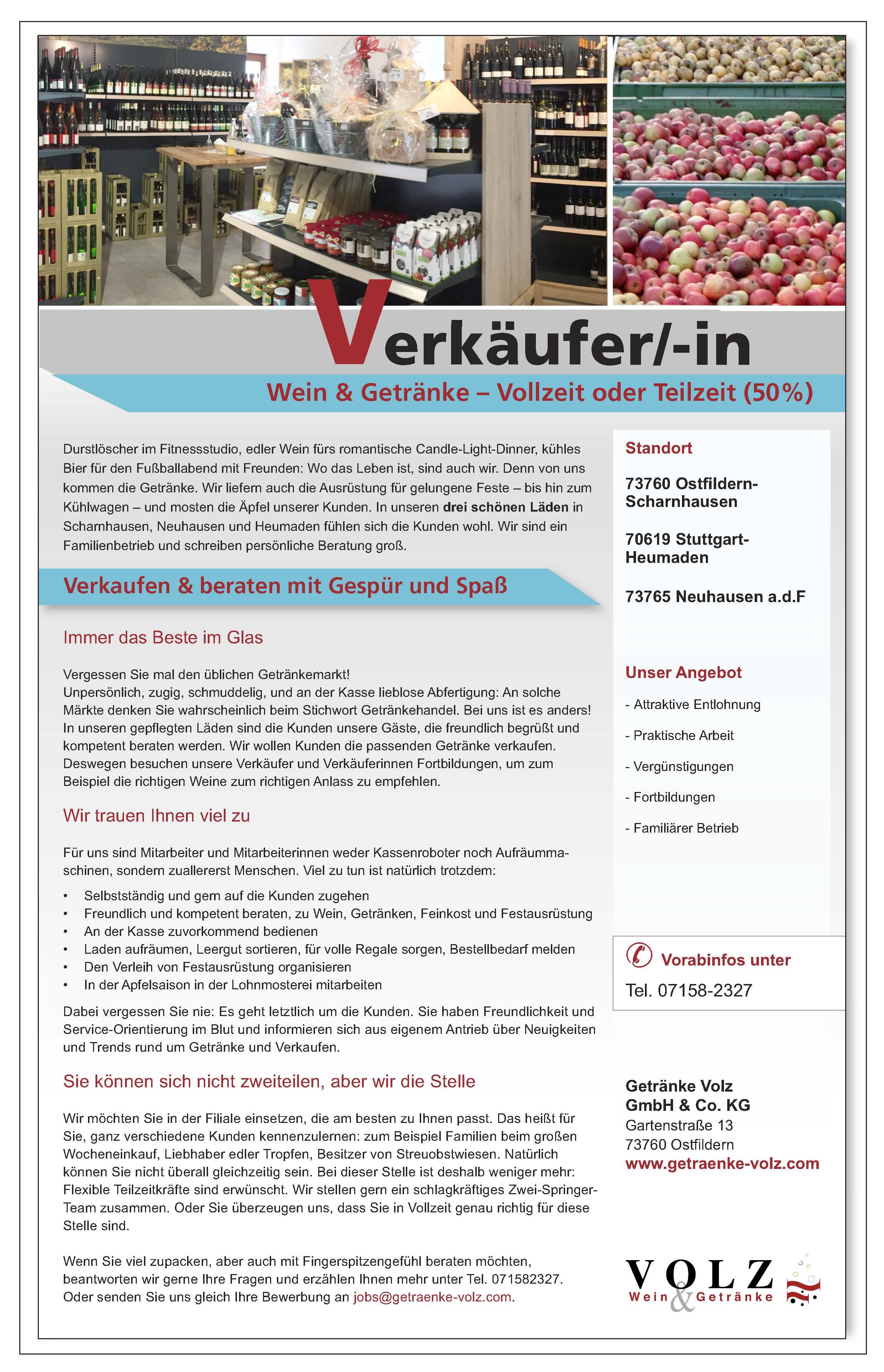 Fein Getränke Volz Scharnhausen Zeitgenössisch - Die Besten ...